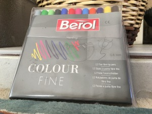 Vintage Berol Colour Fine felt tips. Made in England. Sadly Berol felt tips are now all foreign made.