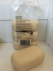 essential Waitrose vegetable soap. Produced in the UK. Photograph by author.
