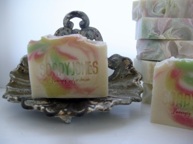 Soapy Jones Sakura Blossom soap. Reflects the beauty of Japanese cherry blossom. Made in England.