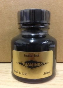 Diamine India Ink. Made in England.