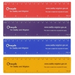 Remarkable Promotional 15cm Flat Rulers made in the UK from 70 - 85% recycled UK CD Cases. Min order 250