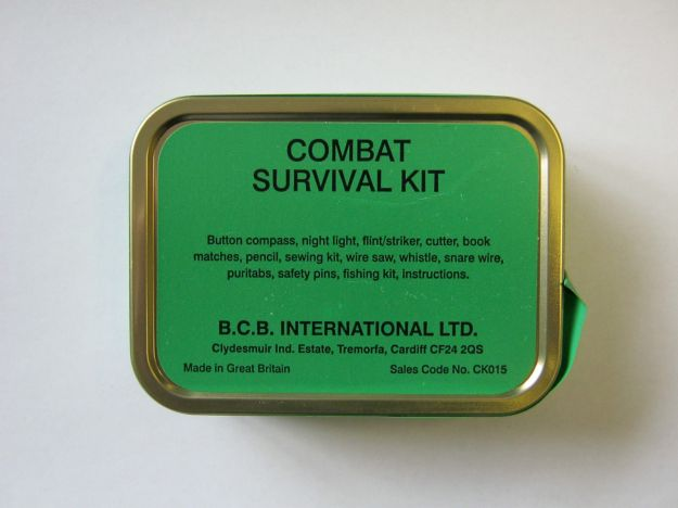BCB Combat Survival Tin. Made in Great Britain (I am not sure if all the content is British made).