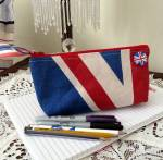 Union Jack Pencil Case by JOJO ACCESSORIES.  Made in England.