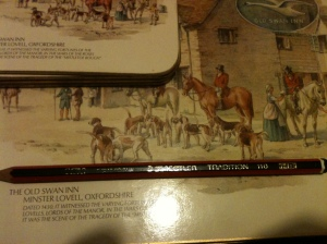 An old Staedtler Tradition 110 HB pencil marked Great Britain. Staedtler no longer make pencils in the UK.