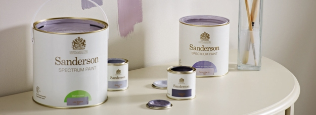 Sanderson paint. Made in the UK.
