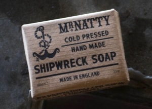 Mr Natty's Shipwreck Soap. Made in England.