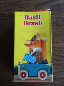 Vintage Jean Sorelle Basil Brush toilet soap. 25p in Allders of Croydon. Made in England. View 1.