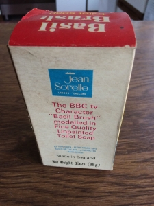 Vintage Jean Sorelle Basil Brush toilet soap. 25p in Allders of Croydon. Made in England. View 2.