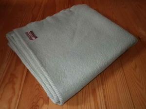 Vintage Wool Blend Blanket from Selfridges:Witney. Made in England. View 1