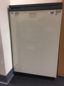 Another vintage made in Great Britain Hotpoint refrigerator. Still going strong in 2016. Photograph by author.