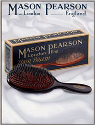 A Mason Pearson hairbrush. Made in England.