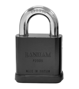 P2005 Banham Open-shackled Padlock. Made in Britain.