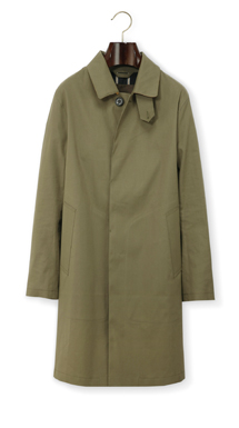 Mackintosh DUNKELD raincoat in KHAKI/YELLOW.  100%COTTON bonded to 100%COTTON .  Made in Britain.