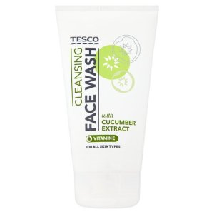 Tesco Cucumber Facial Wash 150Ml. Produced in the UK.