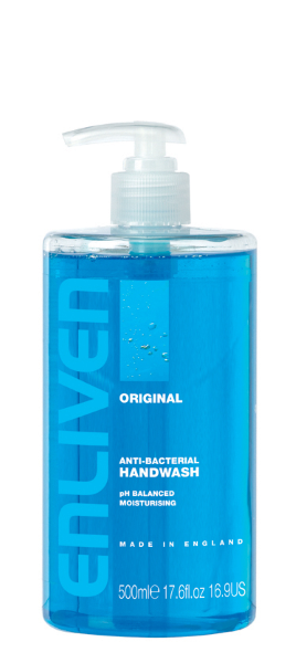 Enliven Original Antibacterial Handwash. Made in England