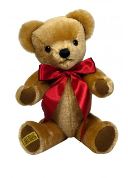 Merrythought London Gold traditional teddy bear. Made in England.