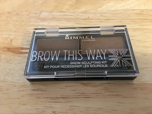 Rimmel Brow This Way brow sculpting kit. Made in China (despite the little Union Flag in the corner!). Photograph by author.