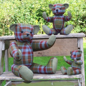 Knockando Woolmill Tartan Teddies. Made in Scotland.