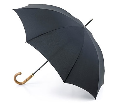 Fulton COMMISSIONER umbrella black.  The handle is attached in the UK