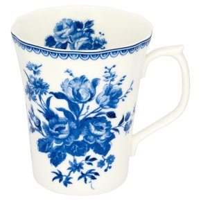 Waitrose Duchy Originals china blue posy mug.  Bone china.  Made in England.  Dishwasher and microwave safe.