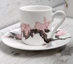 Kozyndan - Bunny Blossom Espresso Set.  Made in England.