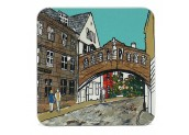 Emmeline Simpson Oxford Bridge of Sighs coaster. Made in Britain.