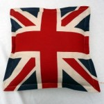 Jo Jo Accessories Union Flag cushion. Made in England.