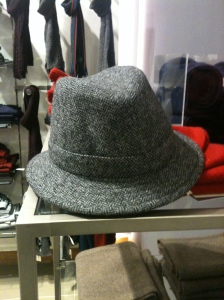 An Olney made in England tweed hat in Heelas (John Lewis) Reading 21.12.13