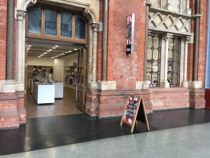 Things British gift shop in St Pancras railway station, London. Photograph by author.
