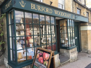 Burford Woodcraft shop in Burford. Photograph by author.