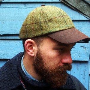 Knockando Woolmill tweed foinaven baseball cap. A baseball cap made in the UK.