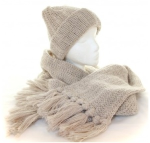 Woolyknit hat and scarf. Made in England.