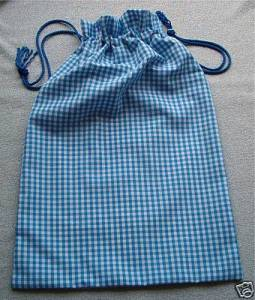 DRAW STRING BAG HAND MADE IN UK BY LINDON TEXTILES