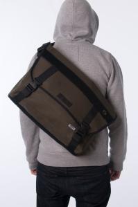 GRIM Burton Messenger Bag (OLIVE GREEN). Made in the UK.