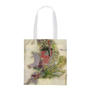 Natural History Museum William Smith geological map tote bag. Made in the UK.