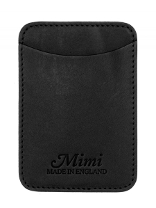 Mimi Card holder in black. Made In England (from leather tanned in Italy).