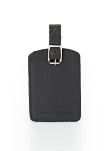 Daines and Hatherway leather luggage tag (single) - krypton. Made in England