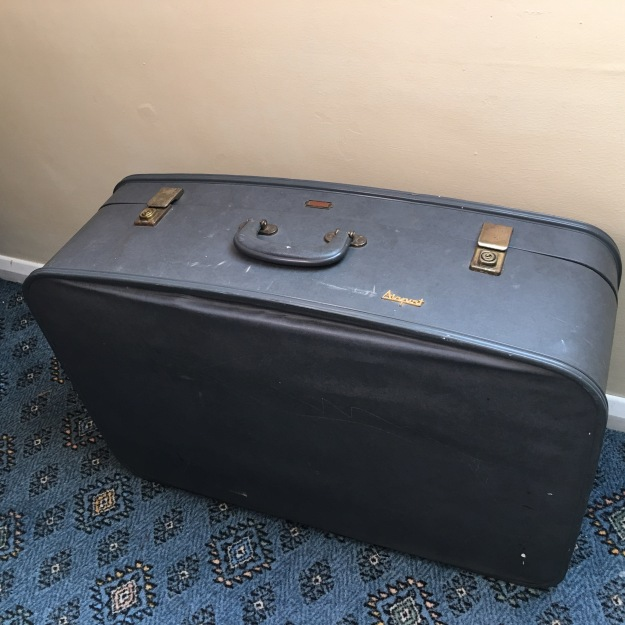 A vintage made in England suitcase. You will find the choice of reasonably priced British made suitcases nowadays to be very small indeed.
