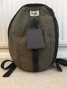 An Aiguille Alpine Runout Rucksack in Olive Green. Made in England. Purchased August 2013 and still going strong. Photograph by author.
