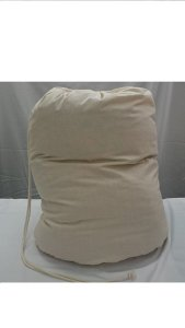 Bags-n-Aprons DUVET/QUILT STORAGE BAG, KING SIZE. Manufactured in the UK from strong Calico fabric.