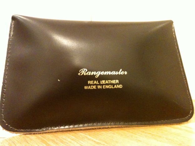 Heritage Leathergoods 100% GENUINE LEATHER Rangemaster Tobacco Pouches. MADE IN ENGLAND. Rear view.