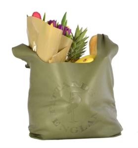 Pittards shopper bag dark green. Made in England.