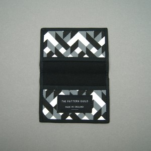 The Pattern Guild chains pattern card holder 10cm W x 7cm H. Made in England.