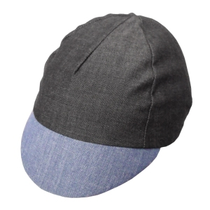 Charcoal cap with contrasting blue peak.  made in the UK.  Route Clothing.  One size fits most.
