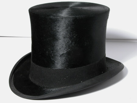 3ce6f5838c0 Top hat by Henry Heath Ltd. belonging to the National Trust and on display  in