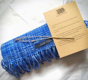A Just Wool Textiles Scarf. Handwoven in England.
