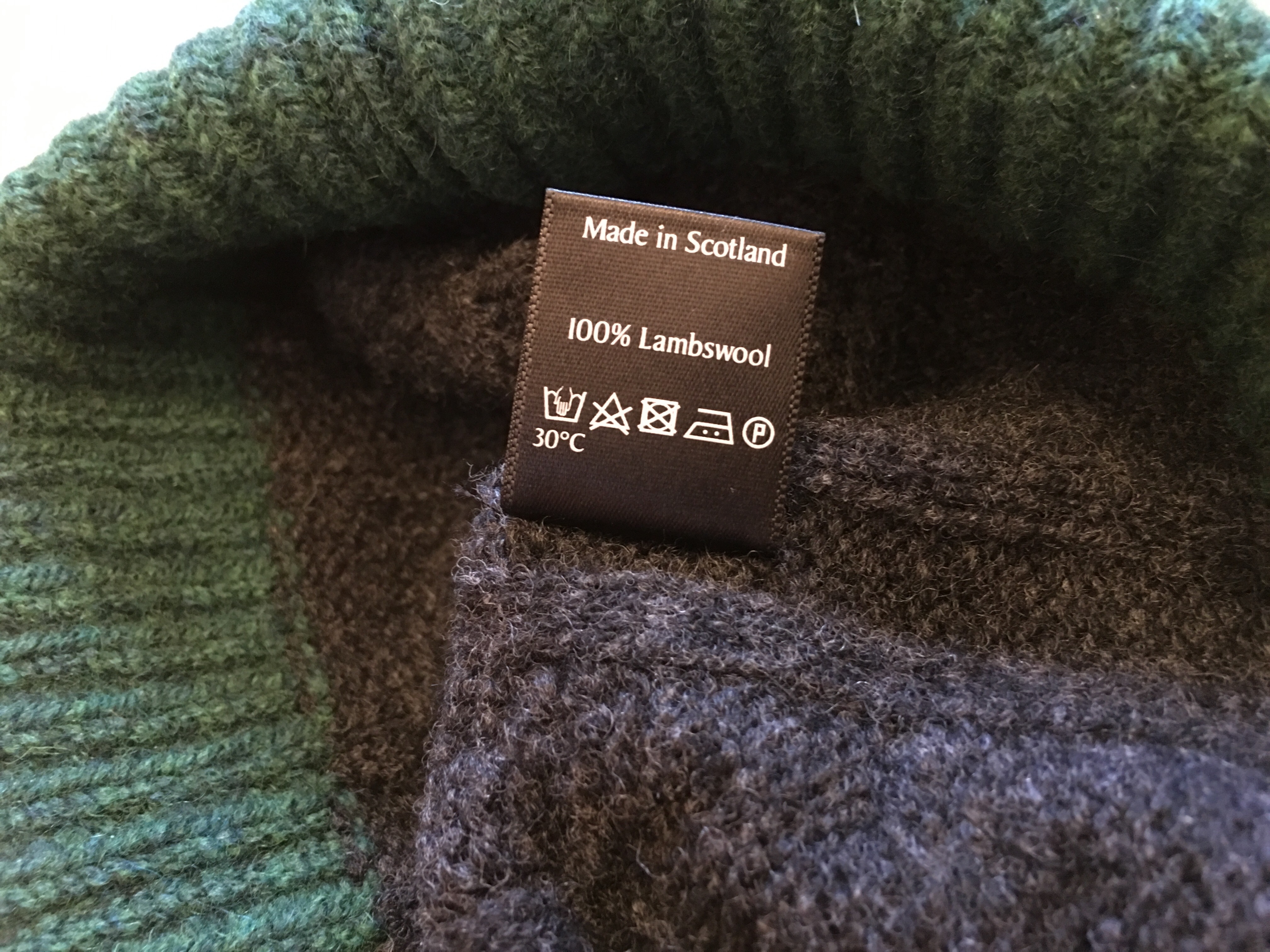 a80f865b Made in Scotland. Photograph by author 1 October 2018. Made in Scotland  label view.