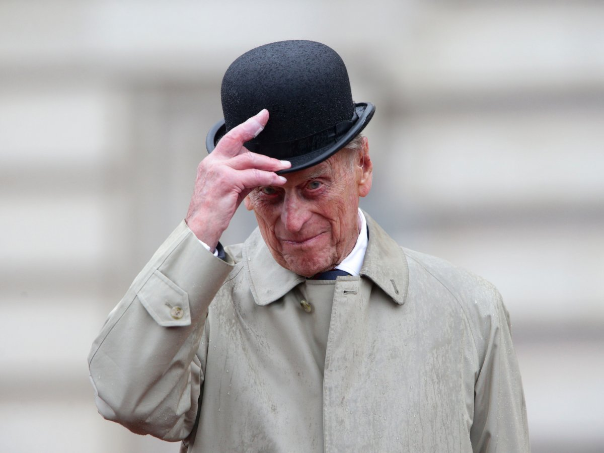 862a8a2e Prince Philip tips his bowler hat at his last solo public engagement on  August 2, 2017.