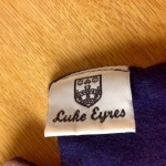 A Luke Eyres double-sided scarf. Made in Cambridge, England. View 3.