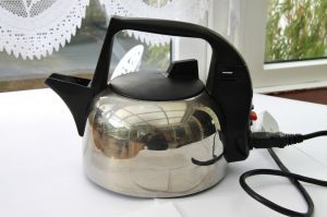 VINTAGE MORPHY RICHARDS 43383 AUTOMATIC ELECTRIC STAINLESS STEEL KETTLE. Made in England.